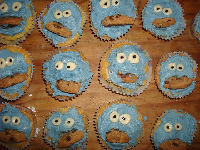 Cookie Monster Cakes (caught) from Flickr via Wylio