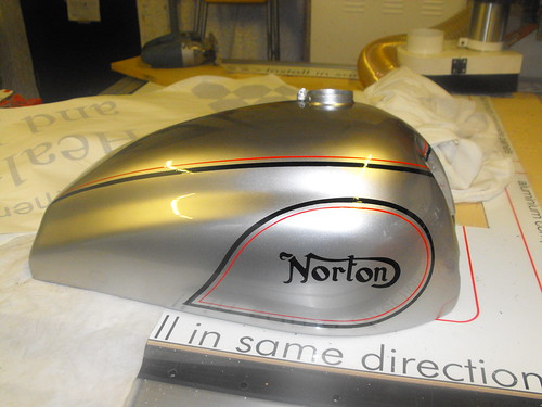 HAND PAINTED NORTON BIKE
