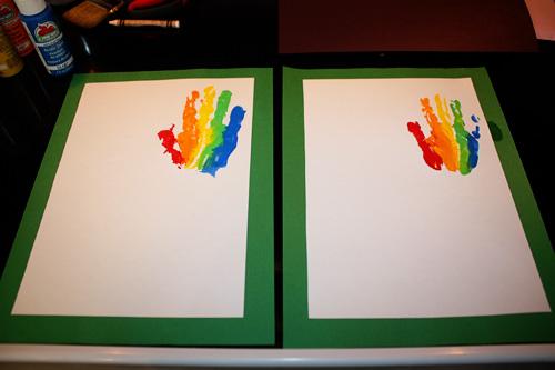 Rainbow-handprints