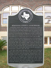 Photo of Henry Truman Phelps and Atascosa County Courthouse black plaque