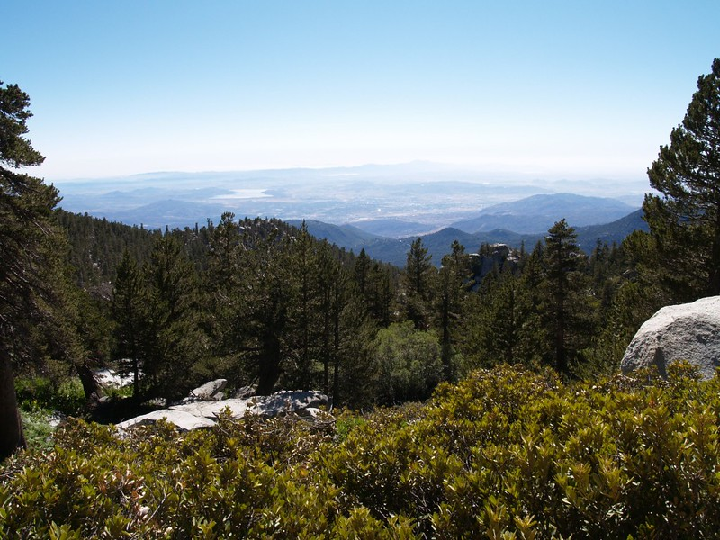 View west over Hemet and idyllwild from the Deer Springs Trail