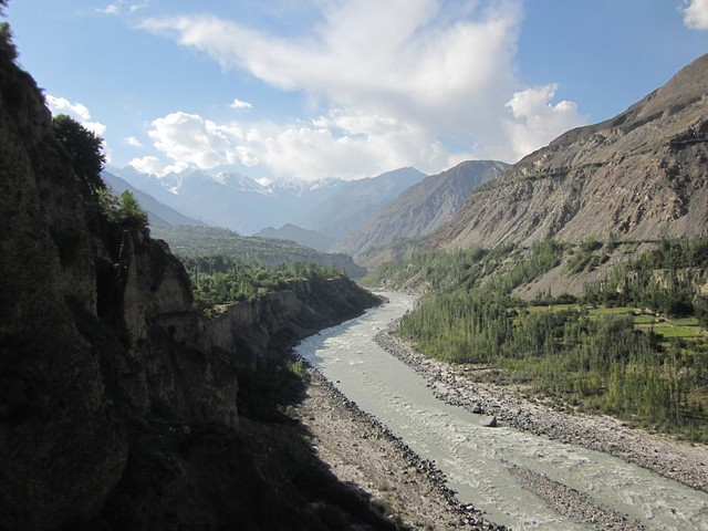 Hunza river valley.