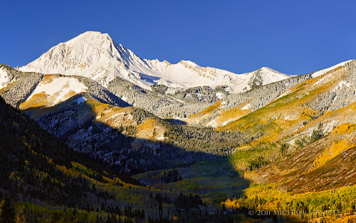 morning autumn sun mountain snow mountains fall nature landscape rockies gold nikon alpine valley rockymountains aspen snowmass 1610 singleexposure clff nothdr loveyoumom d700 nikonafs24120mmf4gedvr