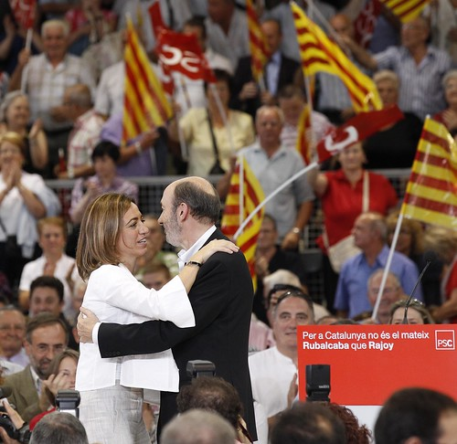 Rubalcaba mitin en Sabadell