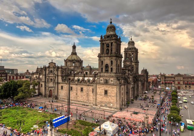 メキシコ・シティ歴史地区の風景
