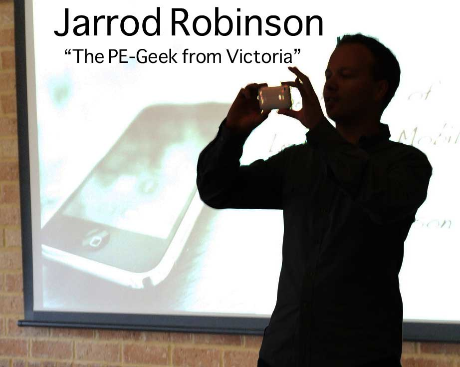 Mr. Jarrod Robinson at one of his demonstrations.