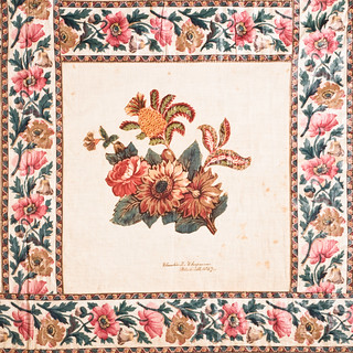 Chintz appliqué album quilt top
