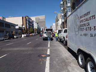 Bike lane moron in San Francisco