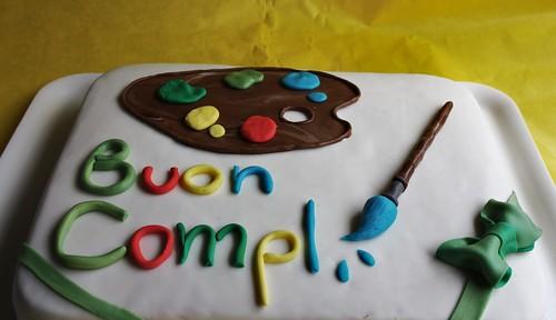 Torta tavolozza e pennello per una giovane artista la for Arte delle torte clementoni