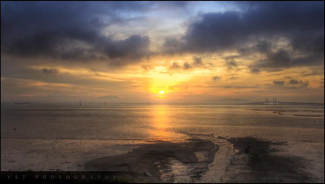 Sunrise and Penang Bridge