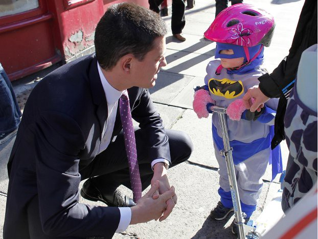 David meets a young batman in Edinburgh