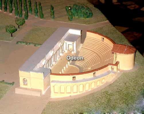 The Odeon, Plastic Model, Hadrian's Villa, Tivoli