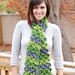 green crocodile scarf