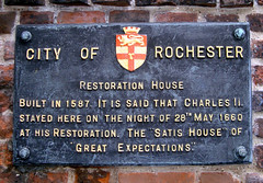 Photo of Charles II and Restoration House  black plaque