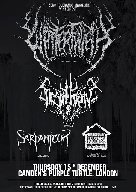 Winterfest winterfylleth zero tolerance metal gigs gig listings purple turtle