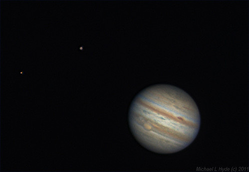 Jupiter, Europa & Ganymede 181111 by Mick Hyde