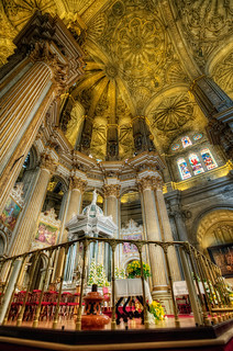 Interior Cathedral – Catedral de Málaga (Spain), HDR 2