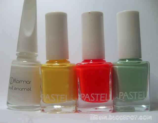 Soldan sağa : Flormar 310 , Pastel 308 - 303 - 83