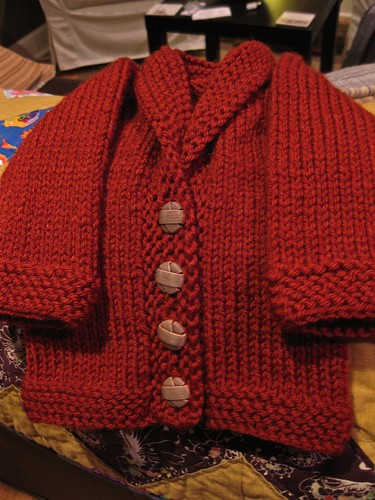 Rubber Baby Buggy Jumper (OK...Cardigan!) FO2