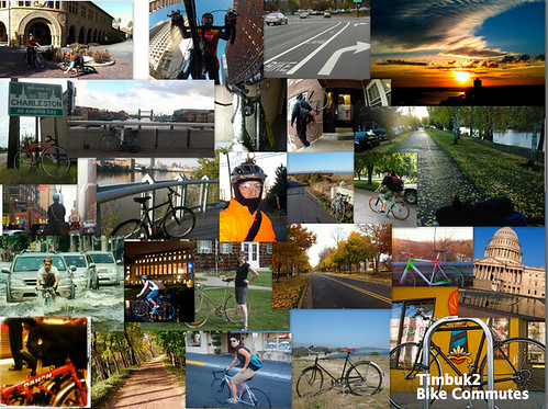 Bike Commute Collage