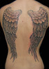 Wing Tattoo Black and gray