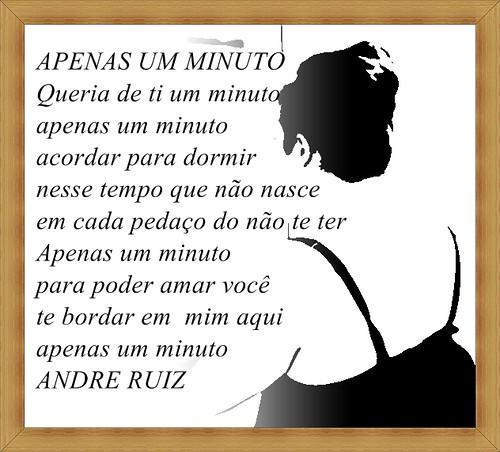 APENAS UM MINUTO by amigos do poeta