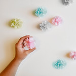 How to Make Mini Tissue Paper Poms