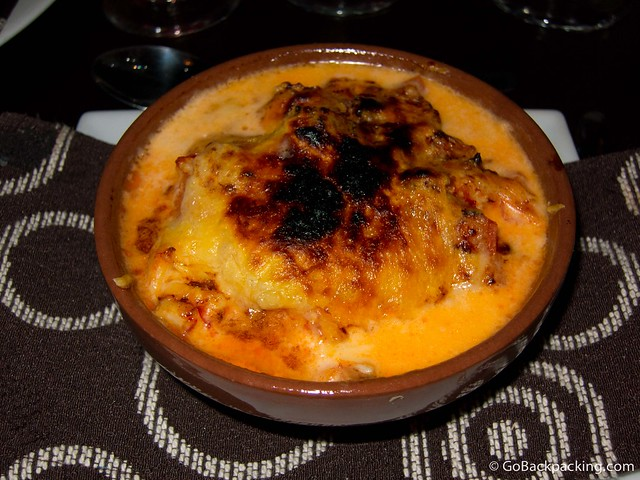 Parmesan King Crab, cream fresh tomatoes, and parmesan cheese