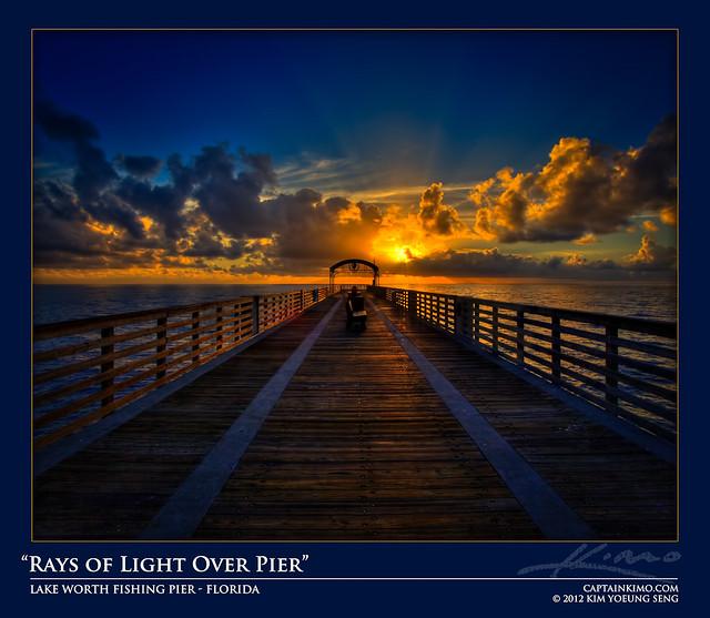 Sun rays over lake worth fishing pier florida flickr for Lake worth pier fishing