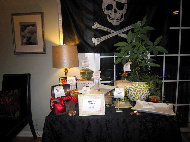 Pirate Birthday Party Food Table - web