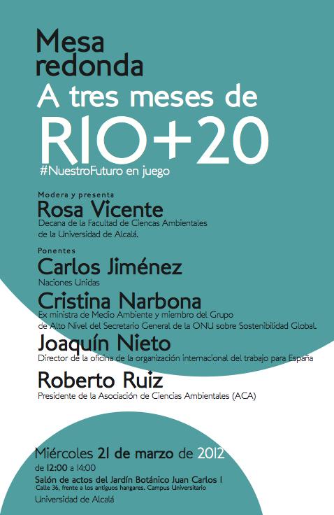 Mesa redonda. A tres meses de Rio+20