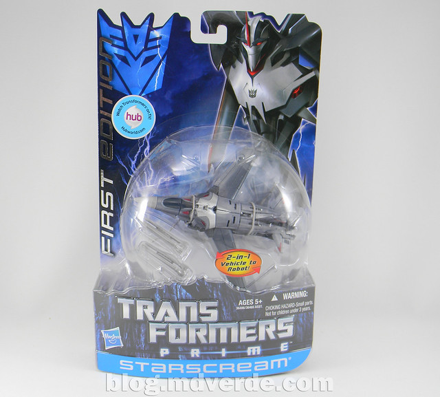 Transformers Starscream Deluxe - Prime First Edition - caja