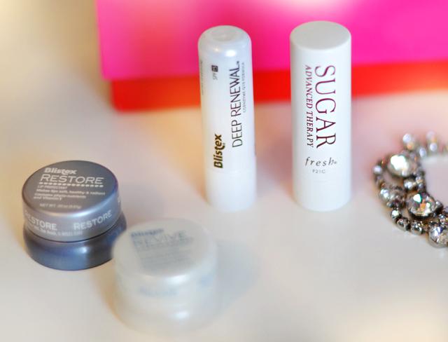 lip balm - sugar lips fresh - blistex deep renewal lip