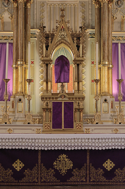 Saint Francis de Sales Oratory, in Saint Louis, Missouri, USA - veiled high altar
