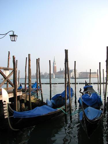 Góndolas y San Giorgio Maggiore