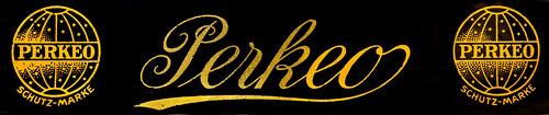 Perkeo typewriter logo