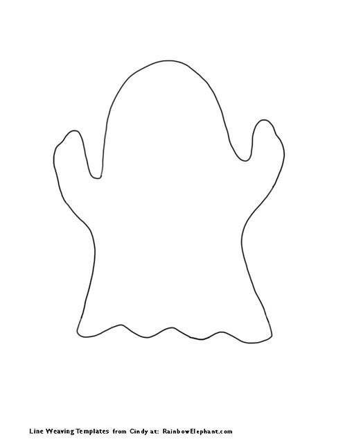 Geeky image for ghost template printable