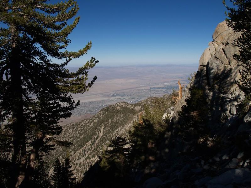 Palm Springs from Miller Peak Saddle