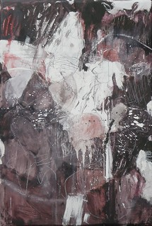Ashita no wasuremono  (2011) Oil on canvas, ink, pigment, charcoal, pencil 1360x930x60mm