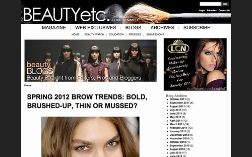Spring 2012 Brow Trends  Bold  Brushed up  Thin or Mussed    Beauty Etc.