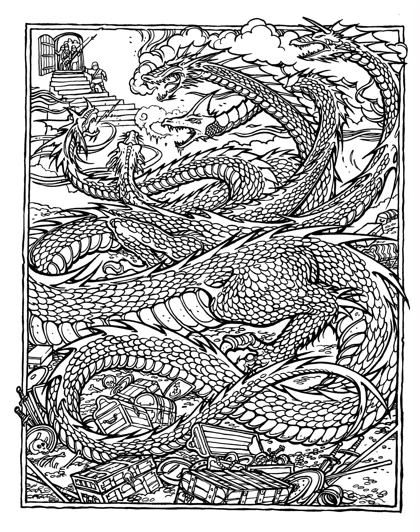 coloring pages with dragons - photo#34