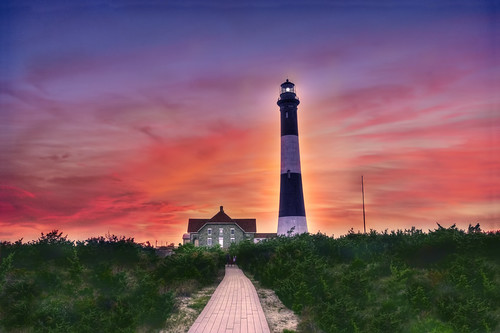 Fire Island Lighthouse Sunset [EXPLORE]