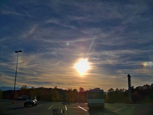 sunset sundogs franklinnc perihelia