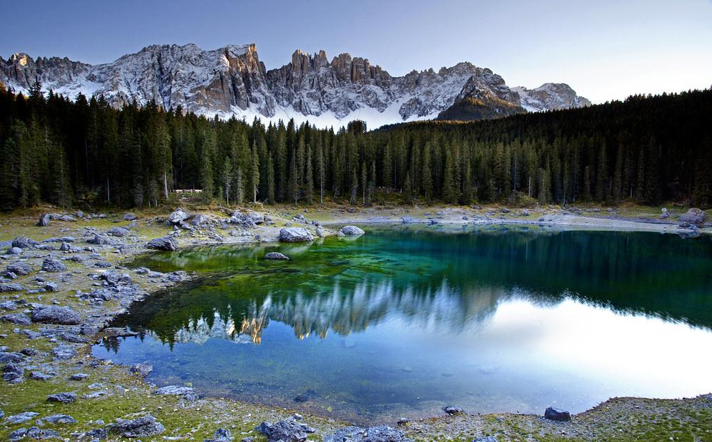 Озеро Карецца  италия