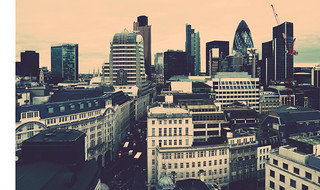 {Landscape seen from The Monument to the Great Fire of London}