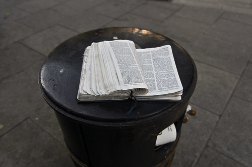 "Abandoned ""Holy Bible"" In Smithfield (Dublin) by infomatique"