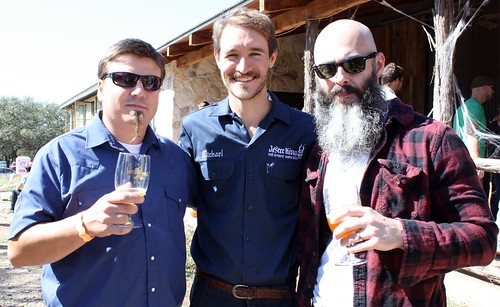 Justin Rizza of Flix Brewhouse, Michael Steffing of Jester King and Michael Waters of Independence Brewing