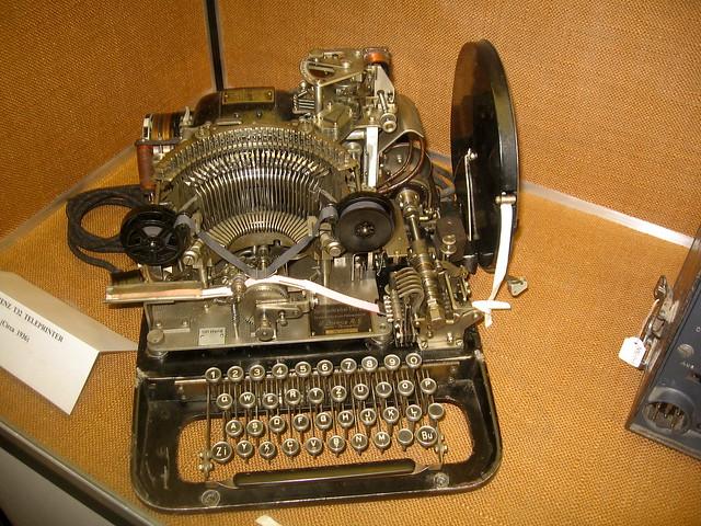 Header of teleprinter