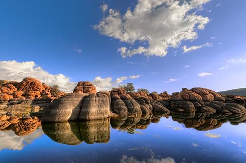 arizona reflection water nikon hdr prescott watsonlake d300 marklee granitedells markinaustin