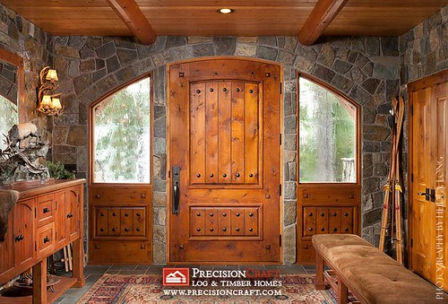 Log Home Entry Photo | by PrecisionCraft Log homes
